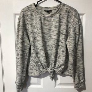 George Grey Long Sleeve Tie Front Top Size L